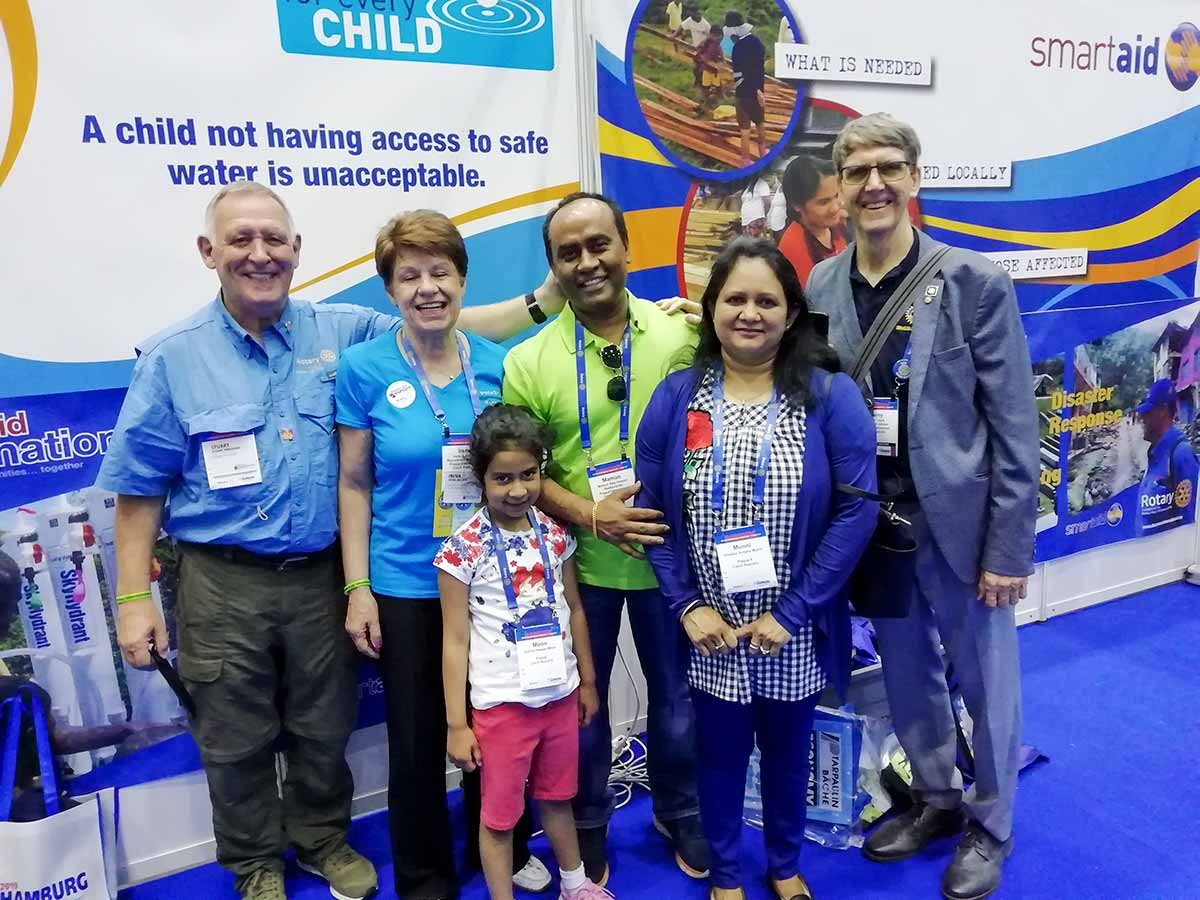Stuart, DAE Chair Irena, Mamun and his family, Gerry at Hamburg RI Convention 2019
