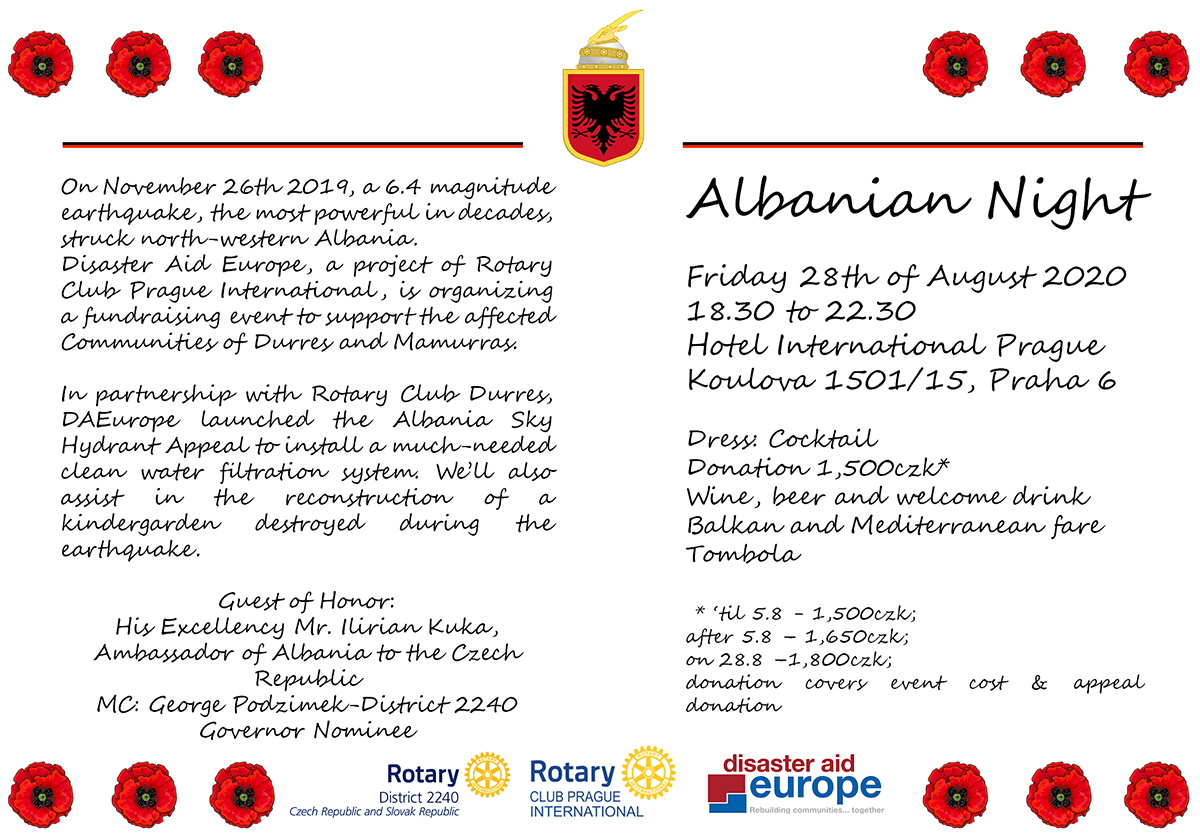 Albanian Night Invitation English