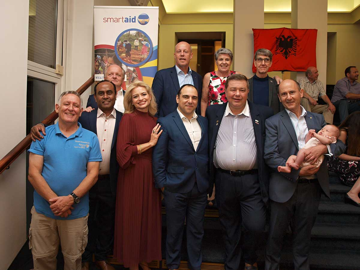 Disaster Aid Europe members at Albanian Night